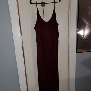Wine colored maxi dress